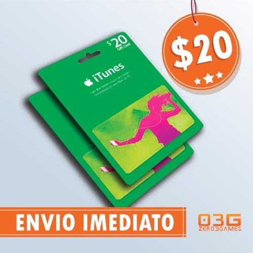 itunes gift card $20 cartão ipod iphone ipad mac app store