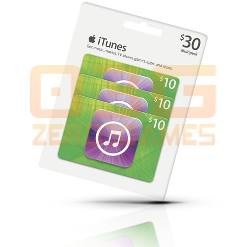 itunes gift card $30 cartão ipod iphone ipad mac app store