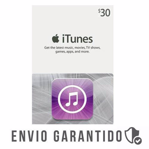 itunes gift card 30$ dolares usa cartao iphone appstore