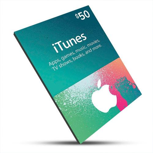 itunes gift card de $50 dólares usa - ipod/iphone/ipad/imac