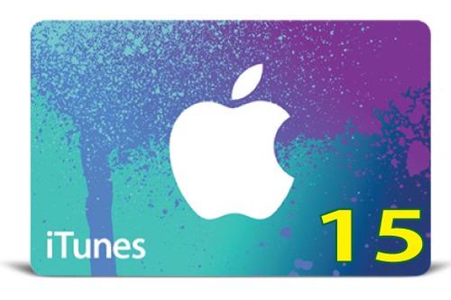 itunes gift card original código valor 15 usd usa