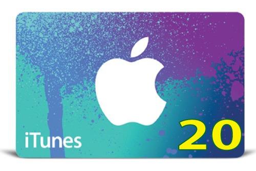 itunes gift card original código valor 20 usd usa