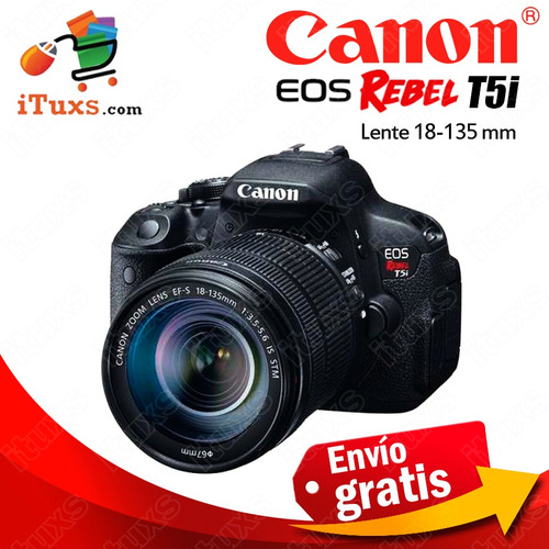 ituxs camara canon nueva t5i lente 18-135 cat5i18/135