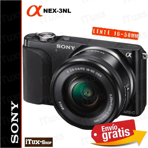 ituxs camara nueva sony nex-3nl lente 16-50mm sonex16/50