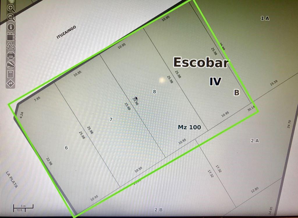 ituzaingo 1200 - ingeniero maschwitz - terrenos/fracciones/loteos terrenos - venta