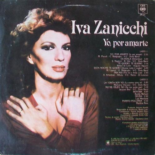 iva zanicchi - yo, por amarte disco vinilo lp