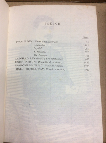 iván bunin. colección premios nobel de literatura