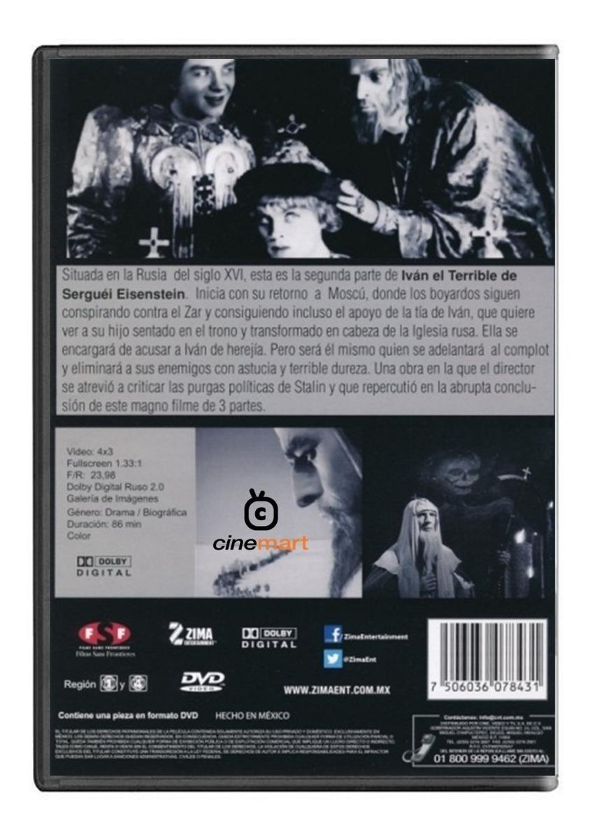 Ivan El Terrible Parte 2 Eisenstein Pelicula Dvd
