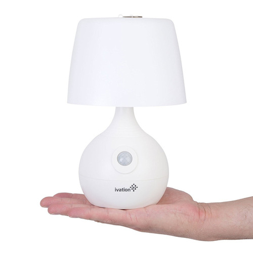 Ivation 12-led battery operated motion sensing table lamp