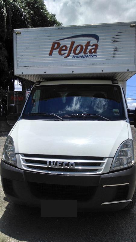 iveco daily 35s14 bau aluminio sobre cabine 2010 c/ serviço!