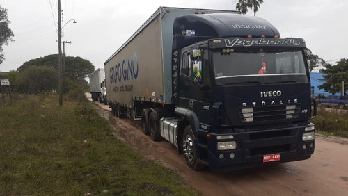 iveco stralis 380hd + sider 3ejes 107m3 - impecable !!