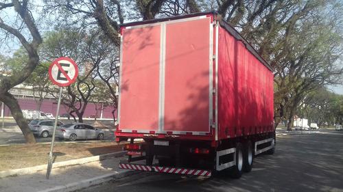 iveco tector 240e25 2011 truck 6x2   baú sider ótimo estado