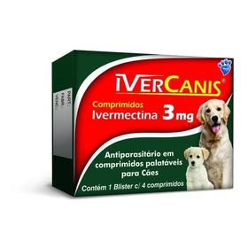 Ivercanis Cães Até 15kg Carrapaticida Sarnicida 4 Comprimido