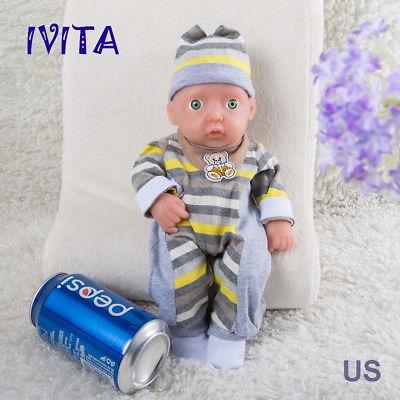 IVITA 11/'/' Full Body Silicone Reborn Baby BOY Realistic Silicone Doll Small Baby