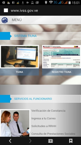 ivss actualización sistema tiuna de tu empresa