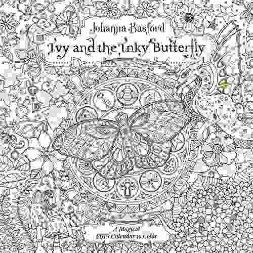 ivy and the inky butterfly 2019 coloring wall calendar a m