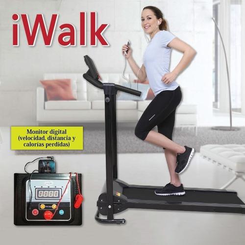 iwalk tevecompras - cinta caminadora plegable c/ parlantes