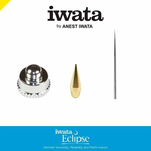 iwata refacciones aerografo eclipse cono + aguja + aircap .5