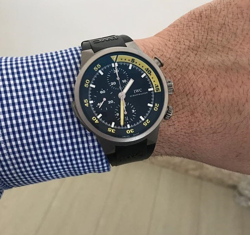 iwc aquatimer split minute chronograph titanium - raro novíssimo