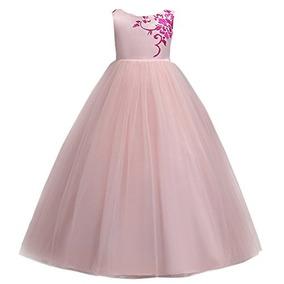 36d4625a8 Iwemek 5-15t Vestido De Dama De Honor De Encaje Bordado De T