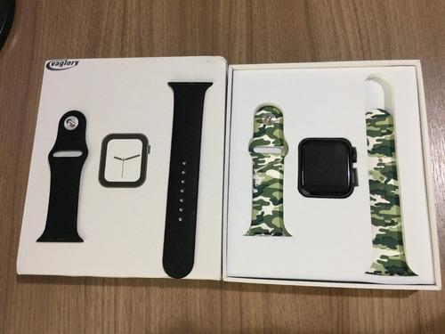 iwo 8 44mm smartwatch original com 2 pulseiras pront entrega