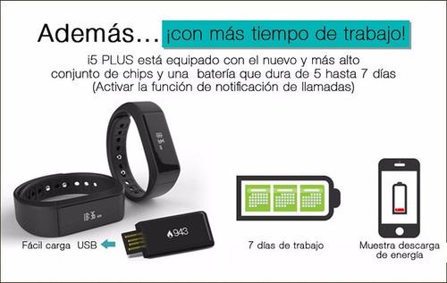 iwown i5 plus pulsera deportiva e inteligente pantalla tácti