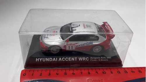 ixo altaya 1/43 hyundai accent wrc rally acropolis 2003