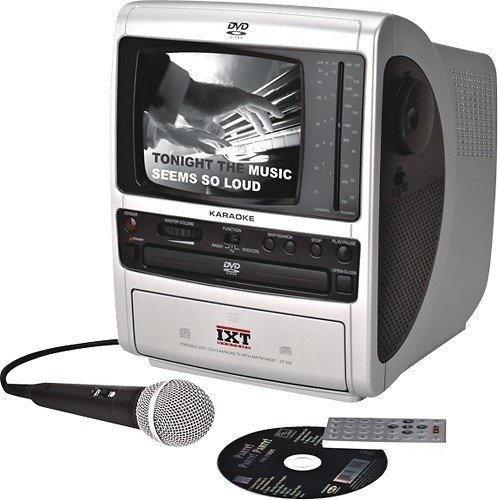 ixt systems - portable dvd/cd+g karaoke system with 5-1/2  b