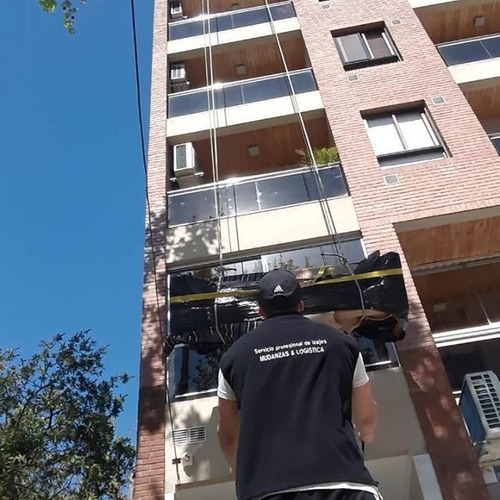 izaje profesional subida de objetos por balcón y terraza