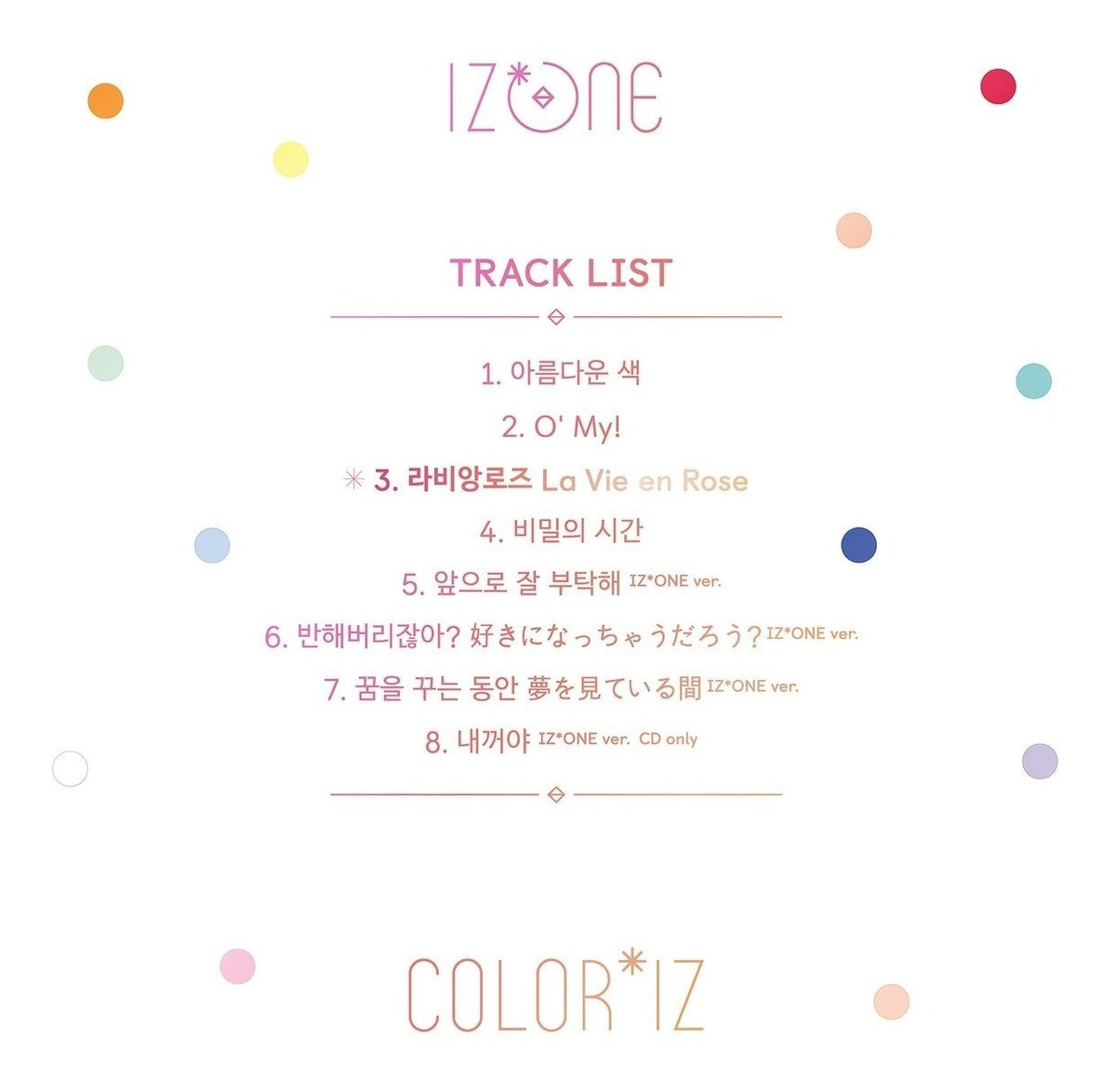 Izone Álbum Kpop Color Iz Oficial Pronta Entrega