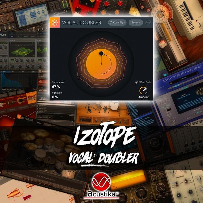 Izotope Vocal Doubler, Vst Vst3 Aax, Plugins De Audio
