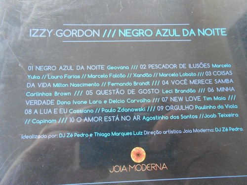izzy gordon negro azul da noite cd original impecável