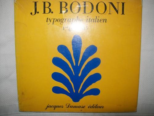 j. b. bodoni typographe italien 1740-1813