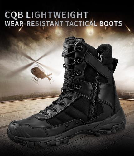 j bota táctica militar absorción resistente cqb (a pedido)