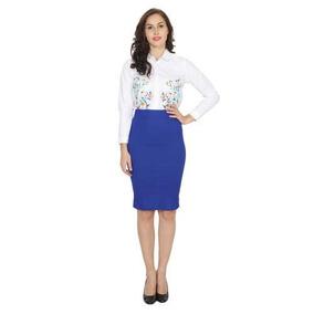 74c6b359f J Crew The Pencil Skirt No2 Royal Blue Falda Lapiz Azul Rey
