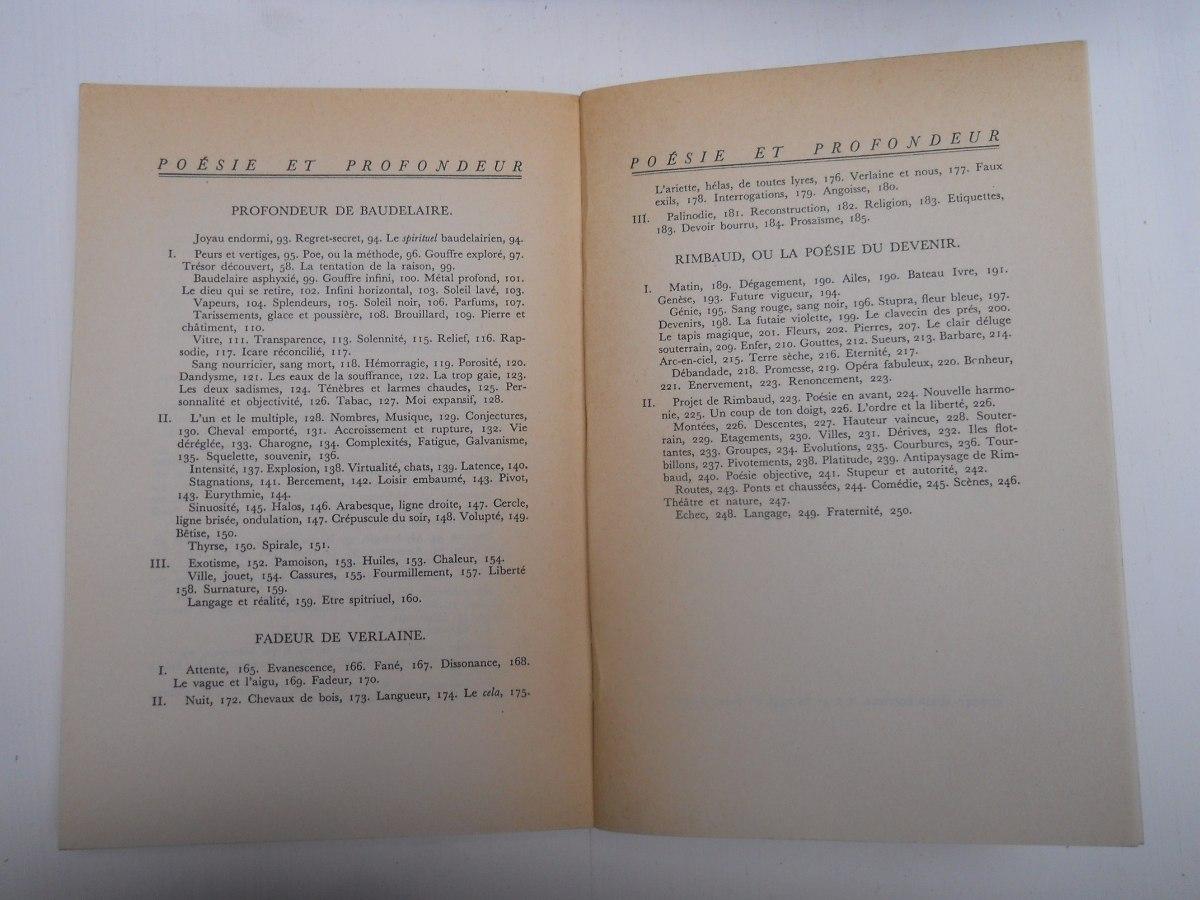 J P Richard Poésie Et Profondeur Nerval Baudelaire Rimbaud 14000