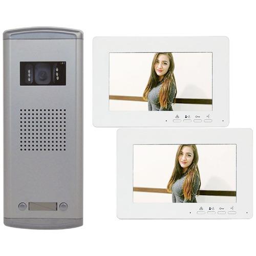 j r méxico videoportero para edificio frente y 2 monitores