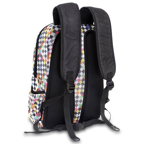 j world new york mochila de malla, damas, talla única