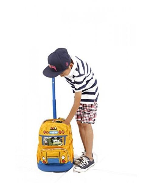 9706d39f25779 j world new york school bus mochila para niños con ruedas. 3 Fotos