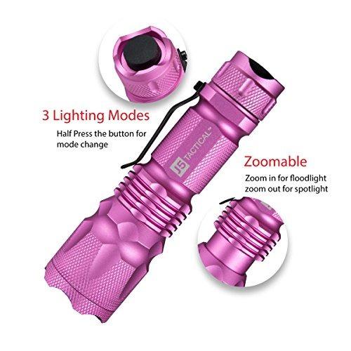 j5 tactical v1 pro linterna táctica de color rosa - la orig