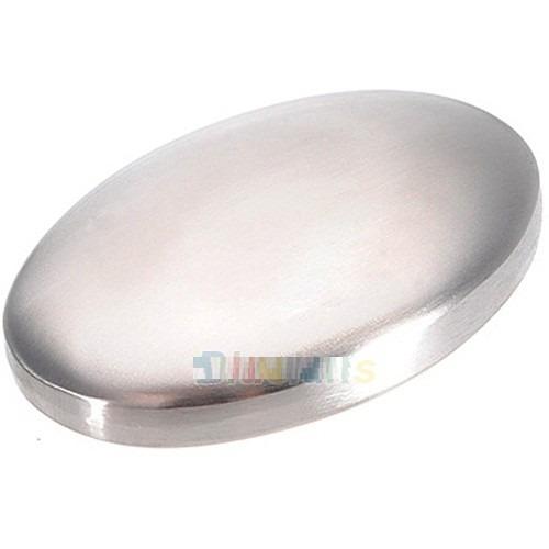 jabón acero inoxidable elimina olores cebolla, pescado etc