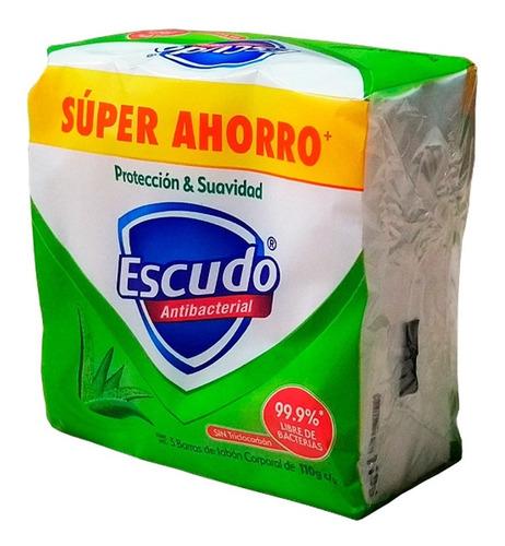 jabón antibacterial escudo en barra protección y suavidad