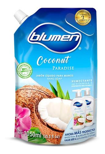 jabón antibacterial para manos blumen aroma coco 1050 ml