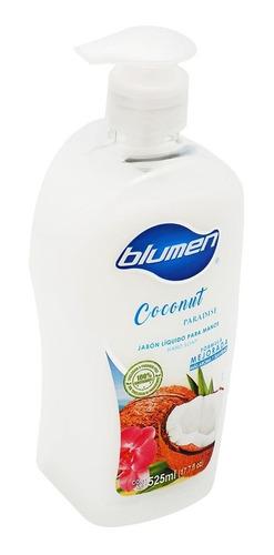 jabón antibacterial para manos blumen aroma coconut 525 ml
