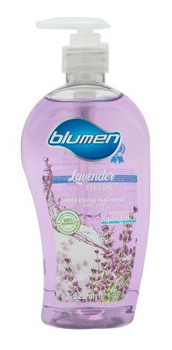 jabón antibacterial para manos blumen aroma lavanda 525 ml