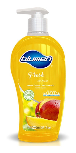 jabón antibacterial para manos blumen aroma mango 525 ml