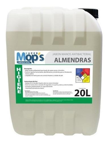 jabón antibacterial super mops aroma almendras 20 l
