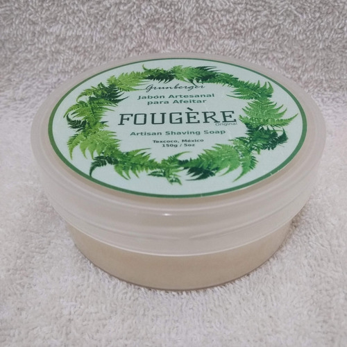 jabón artesanal para afeitar fougére