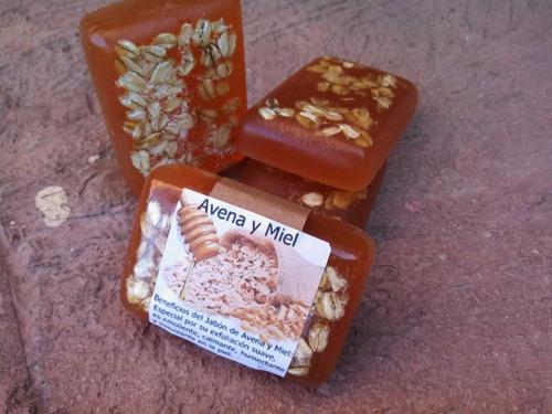 jabon avena y miel artesanal