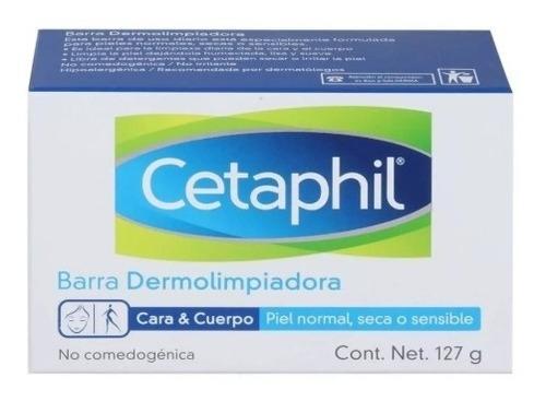 jabón cetaphil dermolimpiador para cara y cuerpo 127g, gc